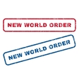 New World Order Rubber Stamps vector image vector image