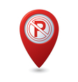 No parking sign on map pointer vector | Price: 1 Credit (USD $1)