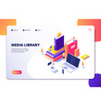online library isometric concept people in vector image vector image