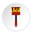 Paint brush icon flat style