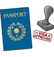 Passport Visa Approved vector image