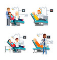 patient in dentist room healthcare vector image vector image