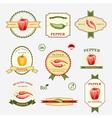 Pepper set of label design vector image vector image