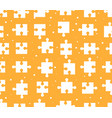 pieces puzzle seamless pattern orange background vector image