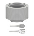 plates icon cartoon style vector image