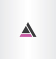 purple black triangle letter a symbol icon
