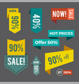 sale now hot price offer on vector image