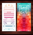save the date template with elegant borders vector image vector image