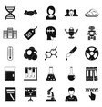 seo analytics icons set simple style vector image vector image