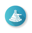 sextant blue flat design long shadow glyph icon vector image