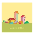 small village painted in cartoon style vector image