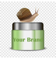 snail cream mockup realistic style vector image