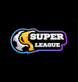 soccer super league emblem sport european vector image vector image