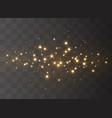 sparkling magical dust vector image vector image