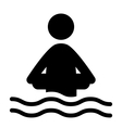 Swim water inflatable circle information flat vector image