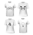 T-shirt template set for men and women vector image