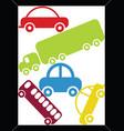 traffic jam in a rectangular frame vector image vector image