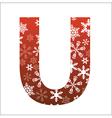 U Letter vector image vector image