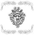 vintage artistic print retro mythology design vector image vector image
