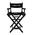 vintage monochrome movie director chair concept vector image