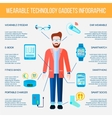 Wearable Gadgets Infographic Set vector image vector image