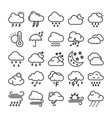 weather line icons set 1 vector image vector image
