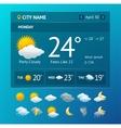 weather widget for smartphone vector image vector image