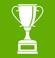 winning gold cup icon green vector image vector image