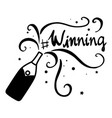 word expression for winning vector image vector image