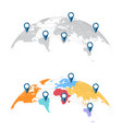 world map with city connections vector image vector image