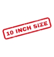 10 Inch Size Text Rubber Stamp vector image vector image