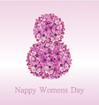 8 March - Happy Womens Day vector image vector image