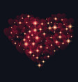 abstract design - heart with glowing sparkling vector image vector image