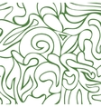 Abstract green and white colors composition vector image