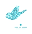 abstract underwater plants bird silhouette pattern vector image vector image