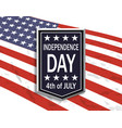 america s independence day a sign with an vector image vector image