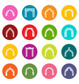 arch types icons set colorful circles vector image vector image