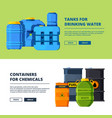 banners with barrels various horizontal vector image