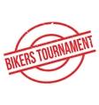 Bikers Tournament rubber stamp vector image