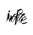 black ink stylized lettering vector image vector image
