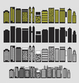 Building black and white icon set