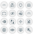 business icons set includes icons such as global vector image