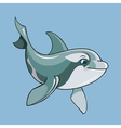 cartoon cute dolphin vector image vector image