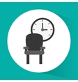 chair and clock office related items icon vector image vector image