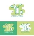 Cocktail logo concept design vector image vector image