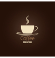 coffee cup design background vector image vector image