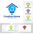 creative home logo designs vector image