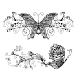 decorative butterflies set vector image vector image