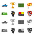 design of soccer and gear symbol set of vector image