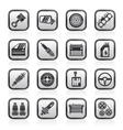 Detailed car parts icons vector image vector image